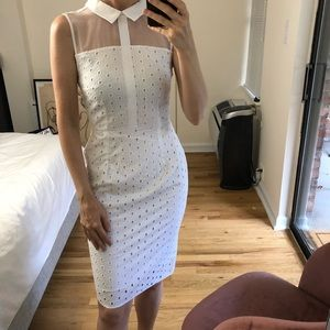 Dorothy Perkins White broderie collar dress 0